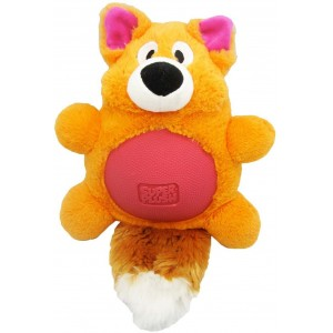 "R2P игрушка для собак Multi-tex ""Лиса"" плюш/резина с пищалкой 25 см"