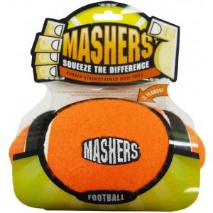"""R2P игрушка для собак Masher """"Мячик с 3-мя орбитами"""" 10 см вспененная резина с покрытием теннисного мяча"""