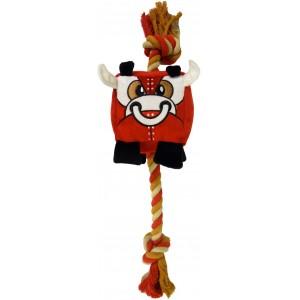R2P игрушка для собак Chewbots кубик из плотного текстиля с канатом в ассортименте