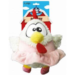 """R2P игрушка для собак Funny Farms """"Цыпленок в юбке"""" плюш 24 см"""