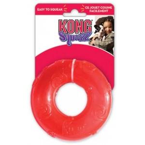 Kong игрушка для собак Сквиз Кольцо d 16 см большое резиновое с пищалкой