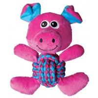 Игрушка для собак Kong Weave Knots Свинка средняя 22 х 20 см