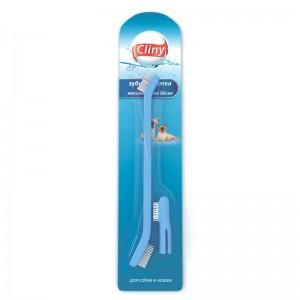 Зубная щетка и массажер для десен Cliny для собак и кошек
