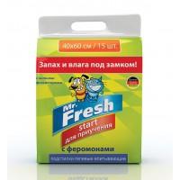 Пеленки Mr. Fresh для приучения к месту 40*60см, 15шт