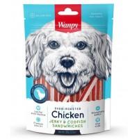 Wanpy для собак курица с треской в форме сэндвича
