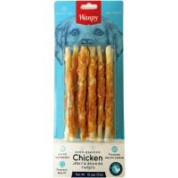 Wanpy для собак трубочки из сыромятной кожи с куриным мясом
