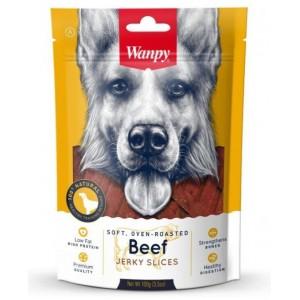 Лакомство для собак Wanpy  соломка из вяленой говядины, 100г