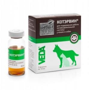 Фитодиета КотЭрвин, 3*10мл кормовая добавка для профилактики мочекаменной болезни у кошек и собак