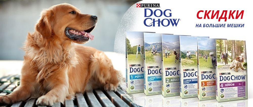Dog Chow - скидка на большие мешки!