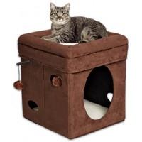 Midwest складной домик-лежанка для кошек 38,4х38,4х42h см