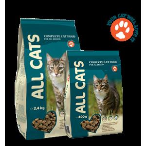 Сухой корм All Cats для взрослых кошек, 2,4кг