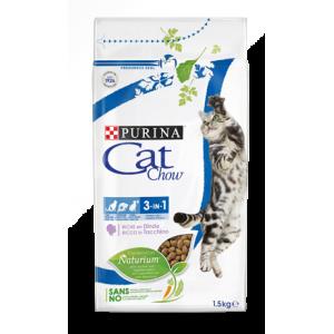 Cat Chow для кошек 3в1, 1,5кг