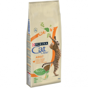 Корм Cat Chow Adult для взрослых кошек, с домашней птицей