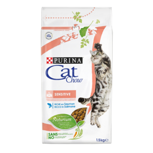 Cat Chow для кошек, чувствительное пищеварение, 1,5кг