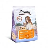 Karmy для кошек, здоровье кожи и шерсти,с лососем
