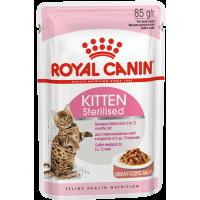Royal Canin Kitten Sterilised (в соусе), для стерилизованных котят от 6 до 12 месяцев, 85г