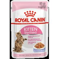 Royal Canin Kitten Sterilised (в желе), для стерилизованных котят от 6 до 12 месяцев, 85г