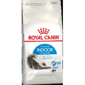 Корм Royal Canin Indoor Long Hair для домашних длинношерстых кошек, 2кг