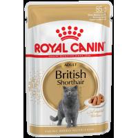 Royal Canin British Shorthair (в соусе) для кошек британской короткошерстной породы старше 12 месяцев. 85г