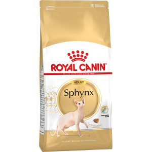 Royal Canin Sphynx Adult для кошек породы сфинкс в возрасте от 1 года и старше.