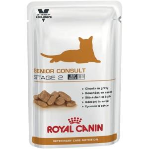 Royal Canin Senior Consult Stage 2, для котов и кошек старше 7 лет, имеющих видимые признаки старения, 0,1кг