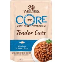 Пауч Wellness CORE для кошек из тунца в соусе, 85г.