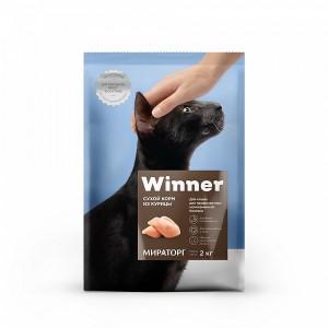 Корм сухой Winner для профилактики мочекаменной болезни кошки, из курицы 10кг
