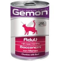 Консервы Gemon для кошек, кусочки говядины, 415г