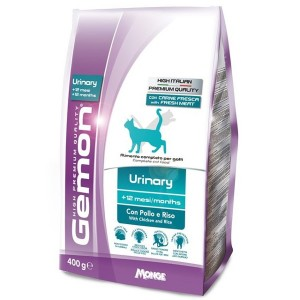 Gemon Cat Urinary корм для профилактики мочекаменной болезни для взрослых кошек с курицей и рисом 400 г