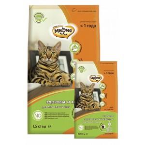 Мнямс Active Life Сухой корм с кроликом для взрослых кошек, 10кг