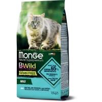 Monge BWild для кошек, Треска 1.5кг