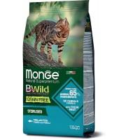 Monge BWild для стерилизованных кошек, тунец, 1.5кг