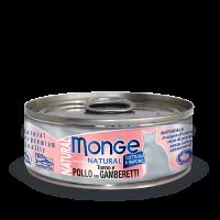 Консервы Monge для кошек тунец с курицей и креветками 80 г