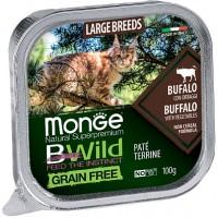 Консервы Monge BWild для крупных кошек, паштет из буйвола, 100г