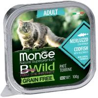 Консервы Monge BWild для кошек, треска с овощами, 100г