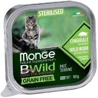 Консервы Monge BWild  для стерилизованных кошек, Кабан с овощами, 100г
