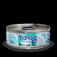 Консервы Monge для кошек морепродукты с курицей 80 г