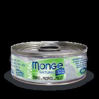 Консервы Monge для кошек тунец с курицей 80 г