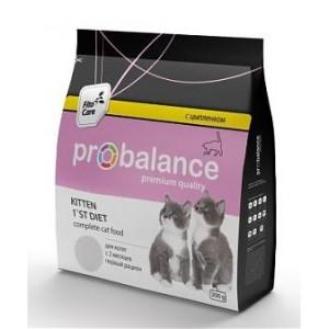 Корм для котят Probalance 1`st Diet Kitten, с цыплёнком, 10кг