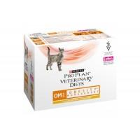 Purina Pro Plan OM для кошек с ожирением, курица 85 г