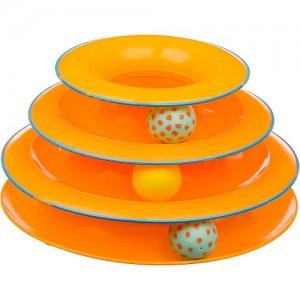 """Petstages игрушка для кошек """"Трек"""" 3 этажа диаметр основания 24 см"""