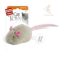 Игрушка для кошек Мышка GiGwi со звуковым чипом