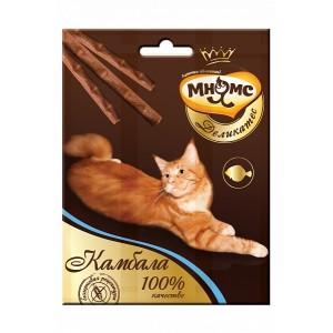 Лакомство Мнямс Деликатес палочки 9 см для кошек с камбалой, 3х4г