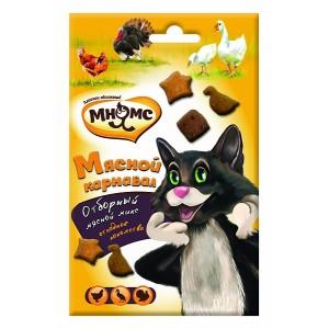 Лакомство Мнямс для кошек «Мясной карнавал» Микс (утка, индейка,курица), 50г