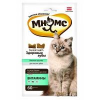 Мнямс Хрустящие подушечки для кошек «Здоровые зубы», 60г