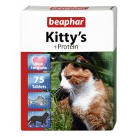Витамины Beaphar Kitty's+Protein с протеином для кошек, 75таб