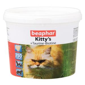 Витамины Beaphar Kitty's+Taurine+Biotine с биотином и таурином для кошек, 750табл