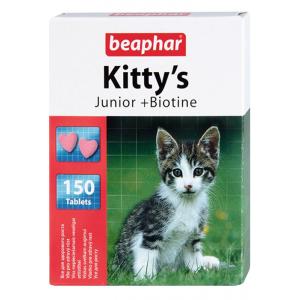 Витамины Beaphar Kitty's Junior + Biotin с биотином для котят,150таб