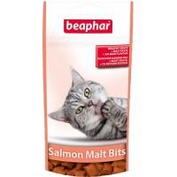 Подушечки Salmon Malt Bits с мальт-пастой и лососем для кошек