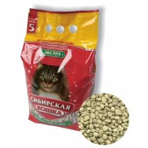 """Наполнитель """"Сибирская кошка"""" Экстра впитывающий для длинношерстных кошек, 5 л"""